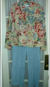 Coldwater Creek blazer with matching Alfred dunner